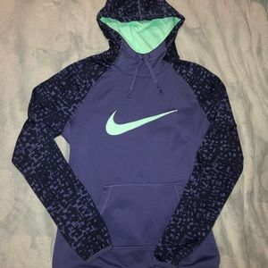 NIKE purple and sea green hoodie DRI-FIT